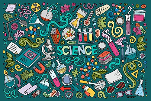 Science Icons - Collage (36x24 Gallery Quality Metal Art)