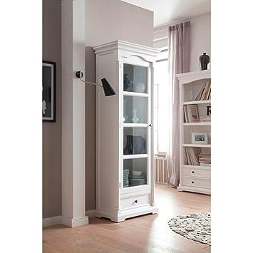NovaSolo Provence Glass Cabinet, White
