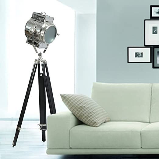 Inspired Livingg Contemporary Floor Lamp - Nautical search light on tripod Floor Lamps at amazon