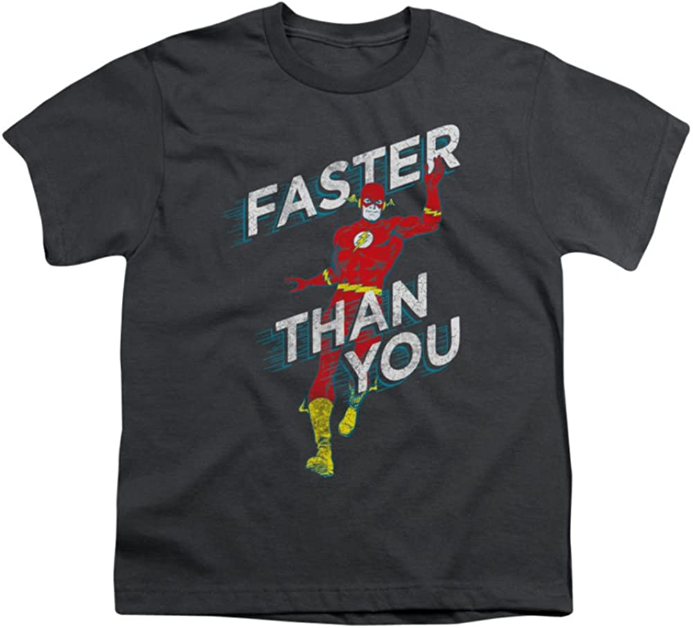 Trevco Dc-Faster Than You Short Sleeve Youth 18-1 Tee Charcoal44; Small