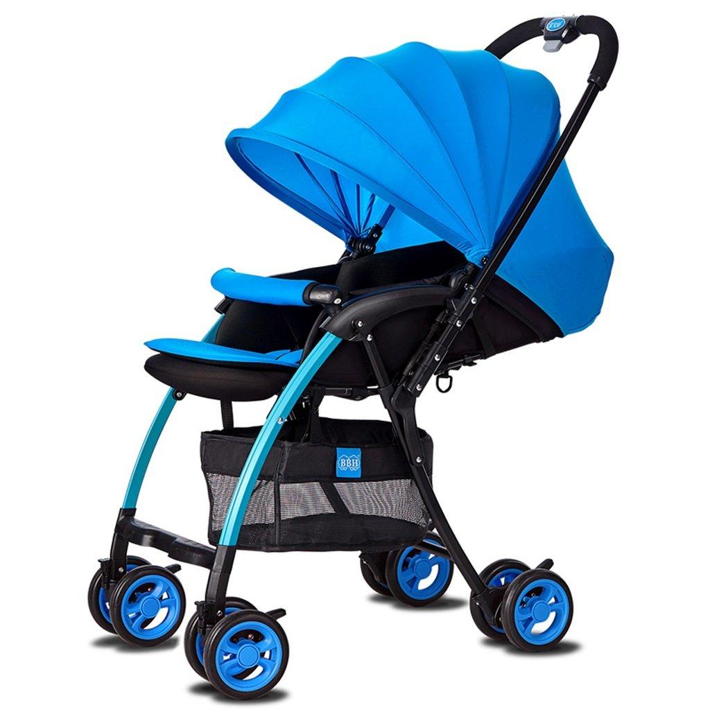 ベビーベビーカー超軽量ポータブルリクライニングベビーカー(7色)(バラ)(青色)48.5 * 82 * 100cm ( Color : Blue ) B07C9WXB2B