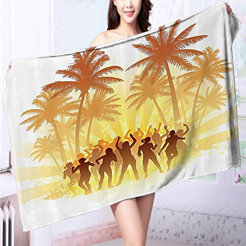AuraiseHome 100% Cotton Super Absorbent Bath Towel Andaman Islands and Calm Sea Soft Sand ach Summer Photography Bathroom Fast Drying, Antibacterial L39.4 x W19.7 INCH ()