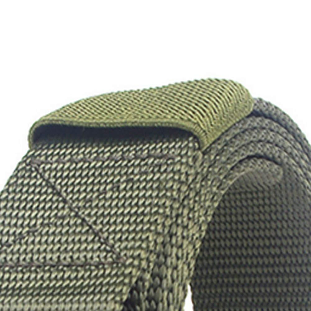 Isuper Heavy Duty Aparejadores Web de la Correa al Aire Libre t/áctico Cintur/ón Multi usos Militares de la Hebilla de la Correa de Lona Verde del ej/ército
