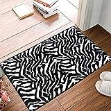 zebra decor for kitchen - Modern Soft Shag Area Rug Zebra Black White Contemporary for Living Room Bedroom Kitchen 16