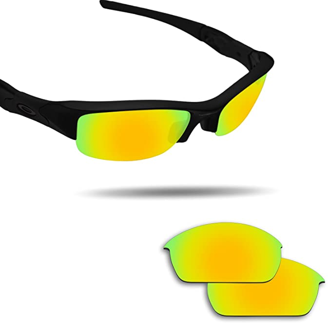0238754b18e26 Image Unavailable. Image not available for. Color  Fiskr Anti-saltwater Replacement  Lenses for Oakley Flak Jacket Sunglasses ...