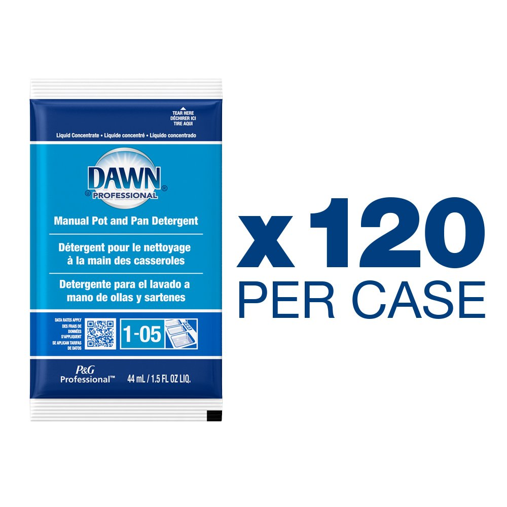 ... Detergent by Dawn Professional, Bulk Degreaser Removes Greasy Foods from Pots, Pans and Dishes in Commercial Restaurant Kitchens,Regular Scent, 1.5 oz.