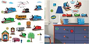 RoomMates Thomas and Friends & Thomas The Tank Engine Peel and Stick Wall Decals