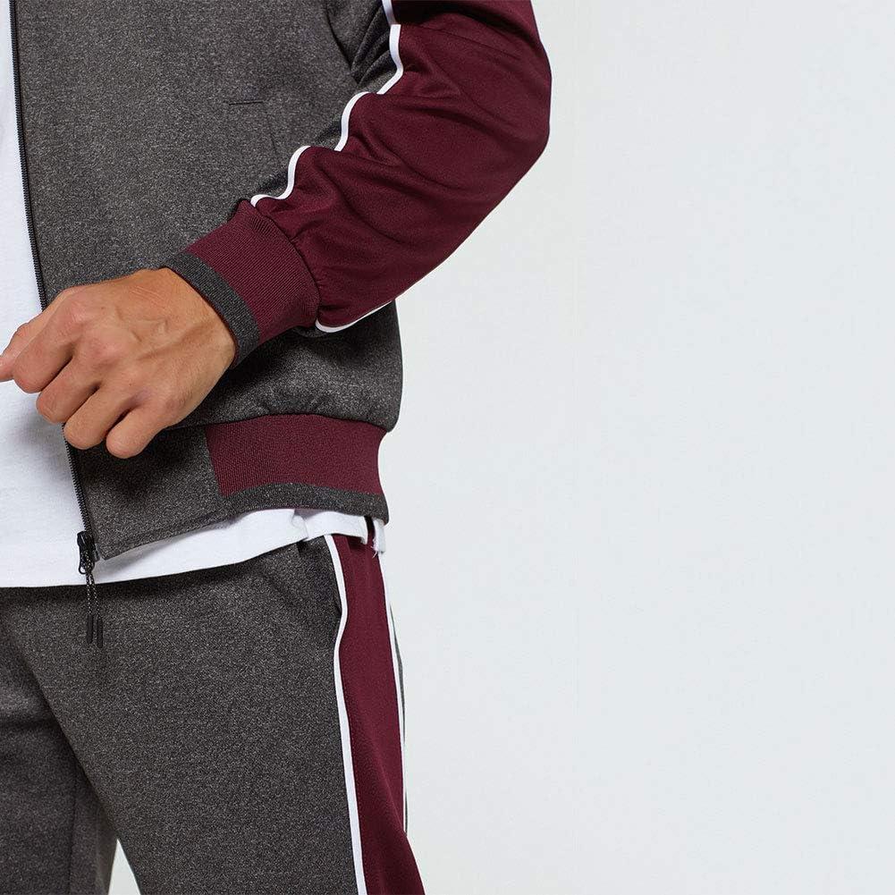 LBL Tuta Sportiva da Uomo con Zip Intera Felpa e Pantaloni Sportivi Caldi