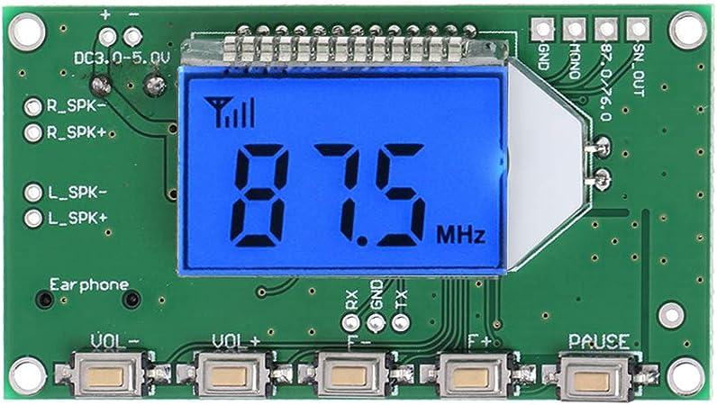 Qiulip Pll Lcd Digital Fm Radio Receiver Modul 87 108 Mhz Wireless Mikrofon Stereo