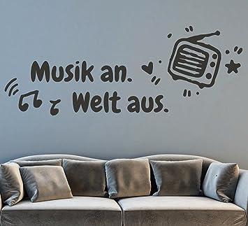 Tjapalo Pkm173 S 100x34 Wandtattoo Wohnzimmer Musik Wandtattoo