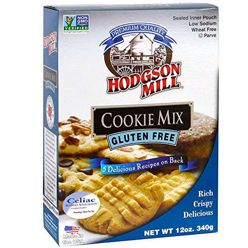 Hodgson Mill Gluten-Free Cookie Mix, 12 Ounce (Pack of 6), Gluten-Free Box Mix Cookies, Easy Homemade Cookies, Add Your Favorite Cookie Flavoring from Chocolate Chips to Peanut Butter -