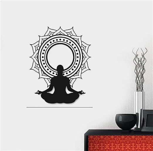 pegatina de pared pegatinas decorativas pared Decal Yoga ...
