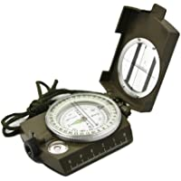 Shuangyou totam Professional Multifunction Military Army Metal Sighting Compass High Accuracy Waterproof - Green Color