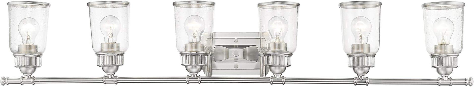 Livex Lighting 10516 91 Lawrenceville 6 Light Bath Vanity Brushed Nickel Amazon Com