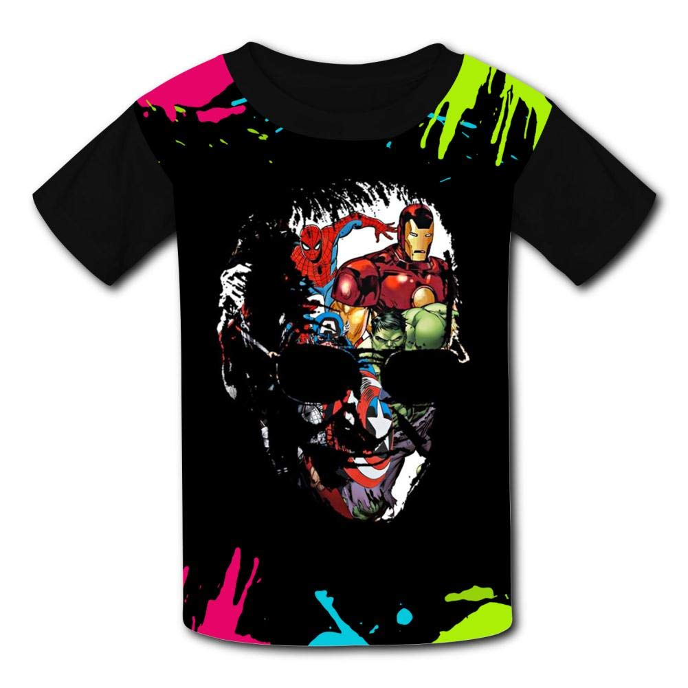 Boys Shirts Aver-ger Stan-Lee Girls Tee Shirt Youth Short Sleeve Teenager Youth T-Shirts Top