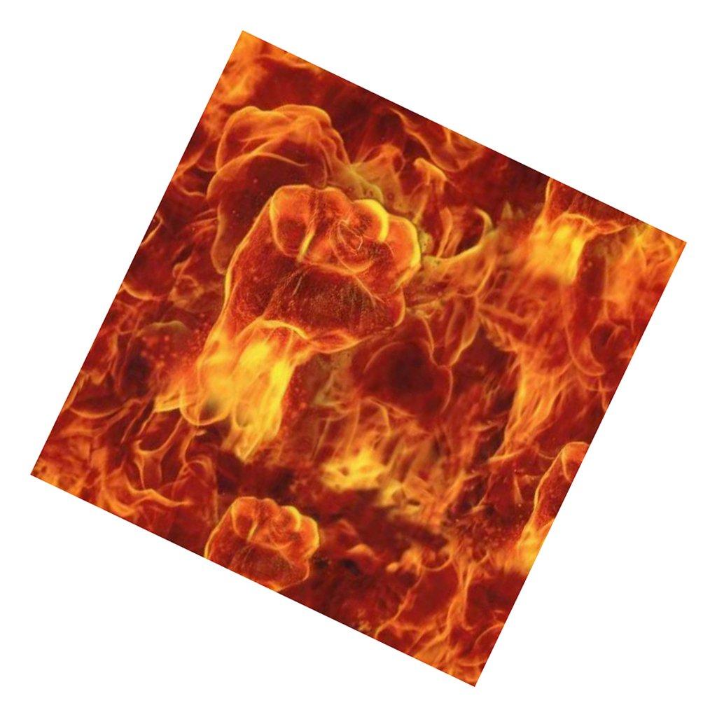 F Fityle Wassertransferdruck Film Carbon Wassertransferdruckfilm Flamme muster 50 Cm X 2