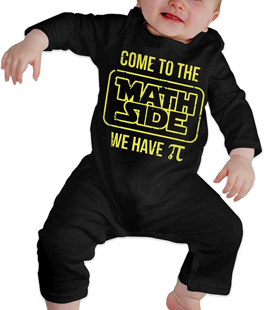 YISHOW Come to The Math Side We Have Pi Bodysuits Infant Romper Jumpsuit Long-Sleeve Toddler Onesie