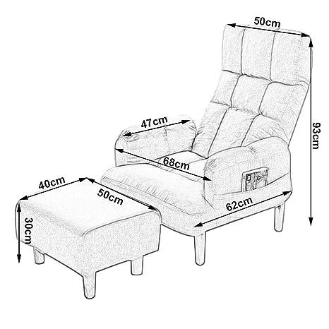 Sofá individual Sillón reclinable ajustable Sillón ...