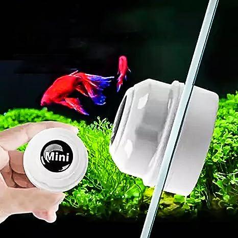 Gudelaa Mini Limpiador magnético de Cristal para Acuario, Limpiador de Algas, pecera, Tanque