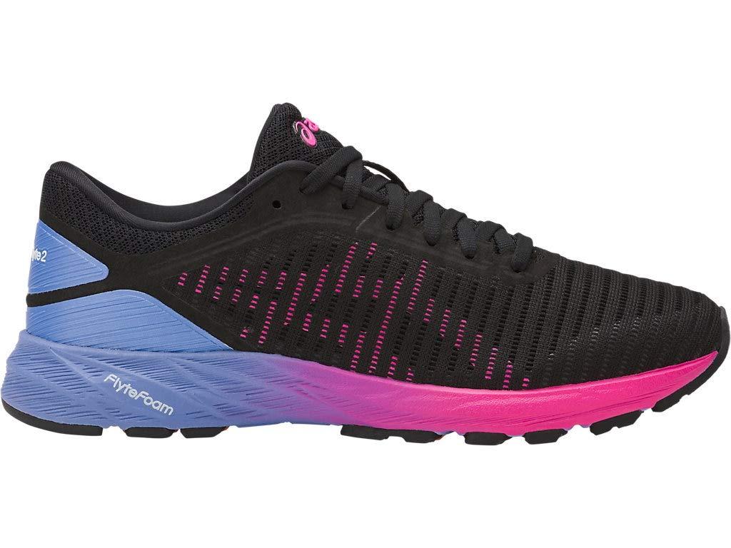 ASICS Women's Dynaflyte 2 Running Shoes, 5M, Black/HOT Pink/Persian Jewel