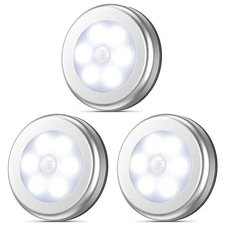 YANHTSO Sensor de Movimiento Luz sin Cable Batería Inteligente LED Luz Nocturna Luz del Sensor del