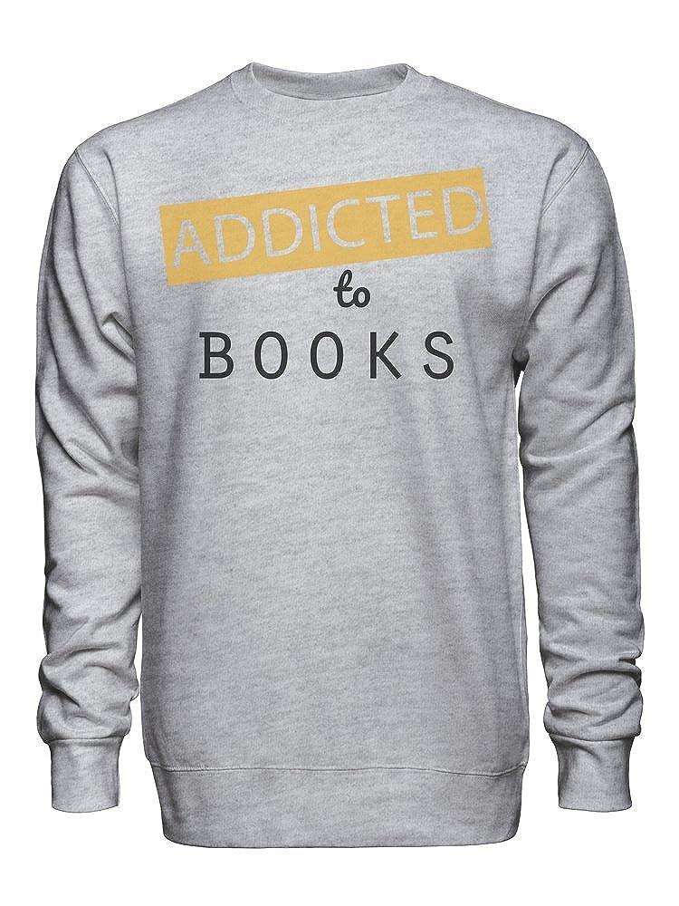 graphke Addicted to Books Unisex Crew Neck Sweatshirt