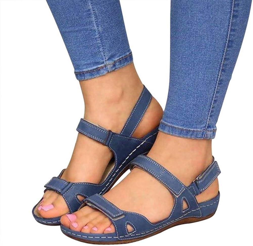 women's summer open toe hook loop sandals