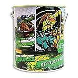 ninja turtle art kit - Teenage Mutant Ninja Turtles Deluxe Activity Art Can - Paint, Color, Sticker and Stencil TMNT Set