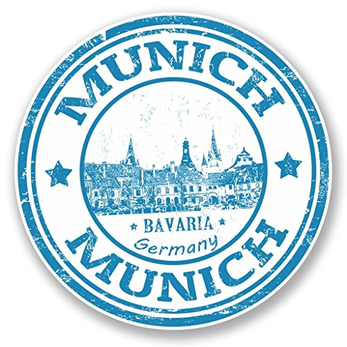 2-x-10cm-100mm-munich-germany-bavaria-vinyl-sticker-decal-laptop-travel-luggage-car-ipad-sign-fun-45