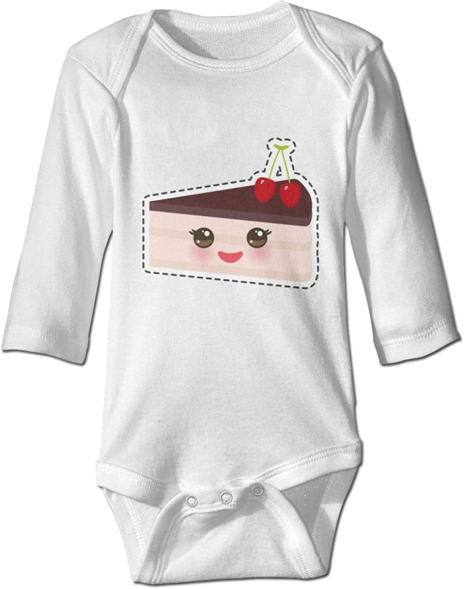YOIGNG Face Cake Unisex Baby Bodysuit Infant Cotton Outfits Long Sleeve Jumpsuit