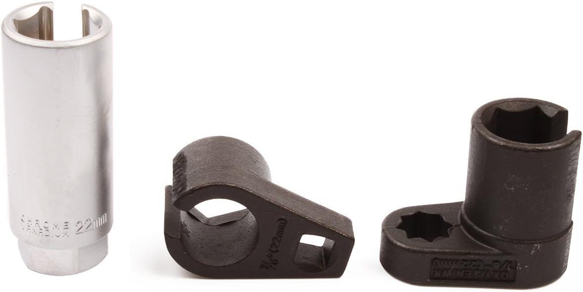 Ctool 1//2 and 3//8 Drive 7//8 22mm 3pcs Universal Oxygen Sensor Switch Socket Wrench Tool Set