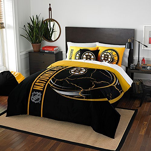 (Northwest 836 2 Shams NOR-1NHL836000001BBB 76 x 86 Boston Bruins NHL Full Comforter Set, Soft & Cozy)