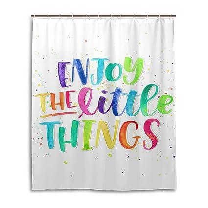 Amazon WBKCQB Unisex Enjoy The Little Things Shower Curtain