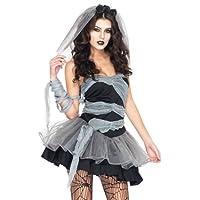 sepolte vestito cosplay sposa femminile cadavere piombo costumi aimerfeel-sexy Halloween decorazioni di Halloween e costume del partito di fantasia, zombie vestito operato da Halloween, formato 40-44