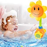 Baby Bath Toys Sunflower shower toy Bathtime Fun Spray Toy Baby Gifts(YELLOW)