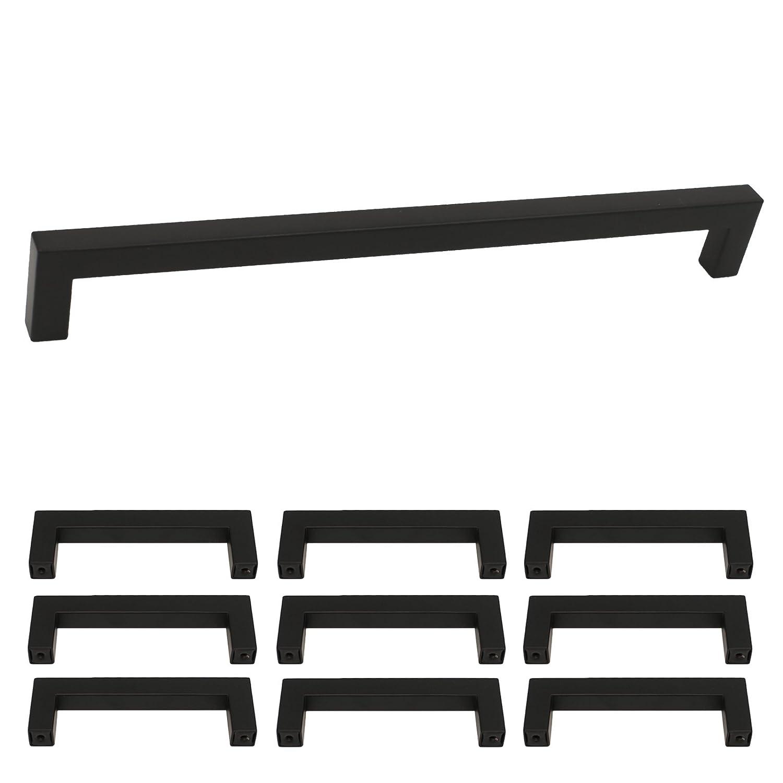 Black Nero Mobili in Acciaio Inox, Maniglia a Parapetto GRIFFE lsj12bk cucina maniglia maniglie armadio/cassetto maniglia quadrata Goldenwarm