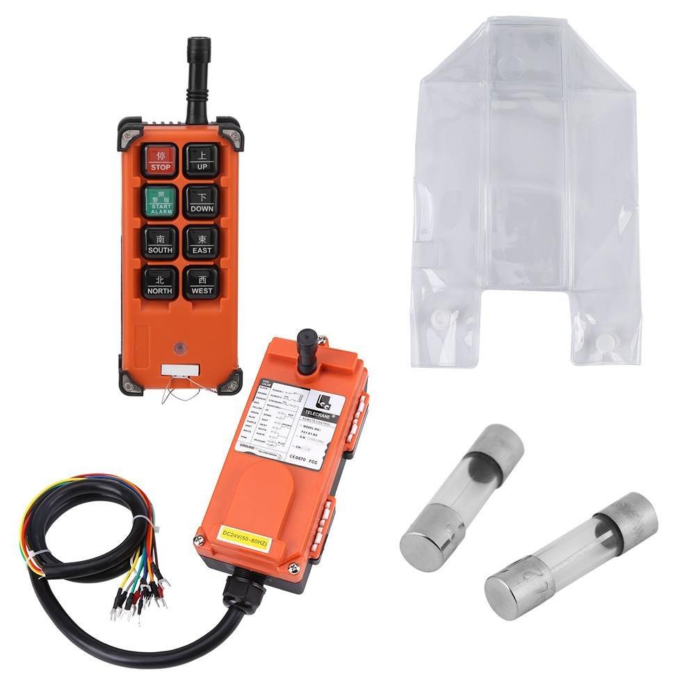 Akozon 24VDC Hoist Crown Block 1 Speed Radio Control System Remote Controller and Receiver Set