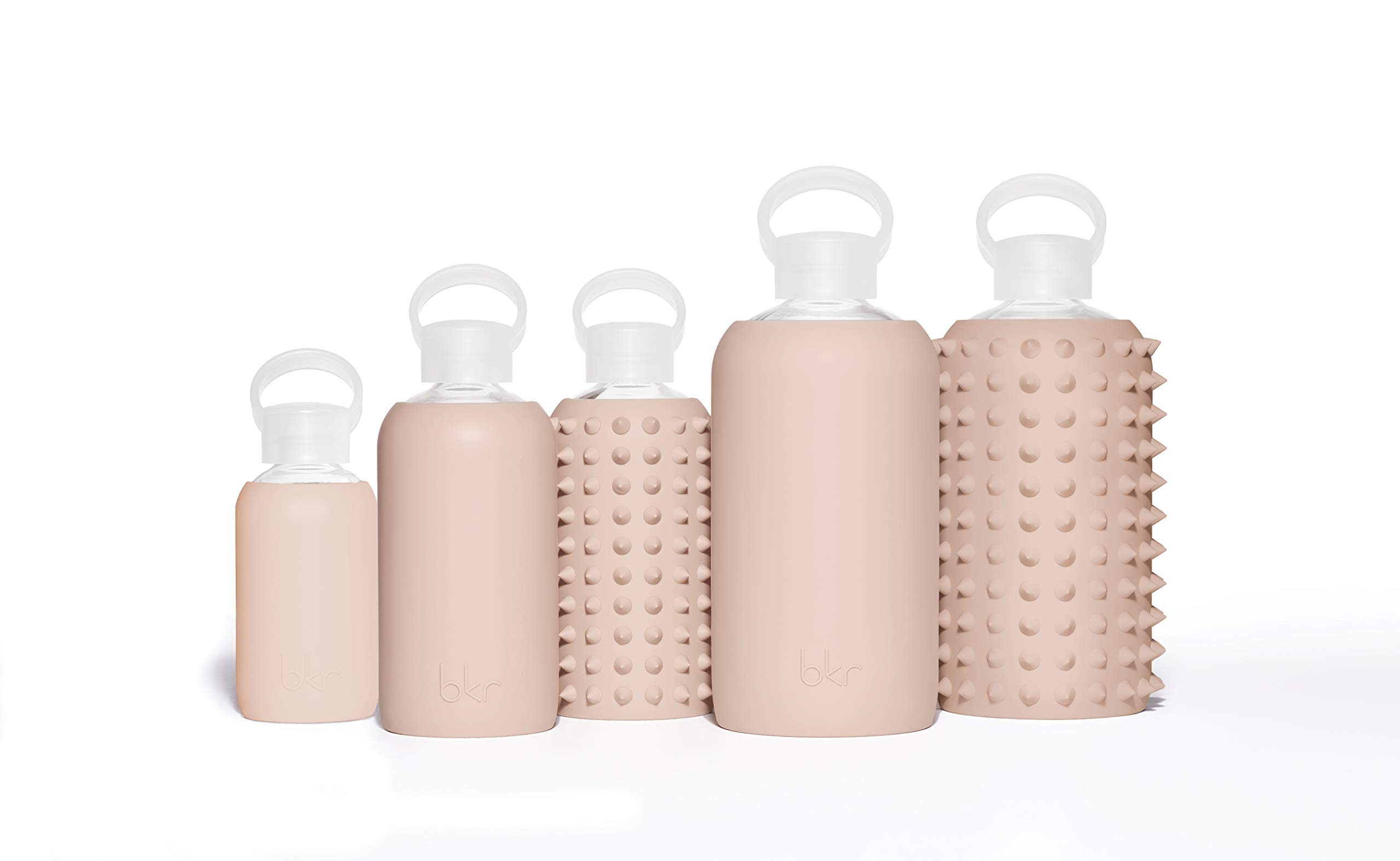 bkr Naked Glass Water Bottle with Smooth Silicone Sleeve for Travel, Narrow Mouth, BPA-Free & Dishwasher Safe, Opaque Light Chocolate Milk Nude, 8 oz / 250 mL by bkr (Image #4)