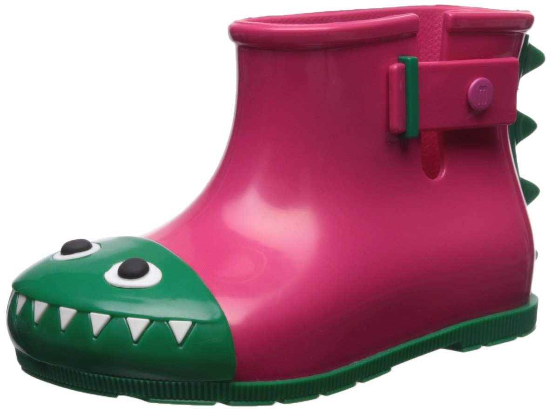 Mini Melissa Kids' Mini Sugar Fabula Rain Boot,Pink,11 Regular US Little Kid