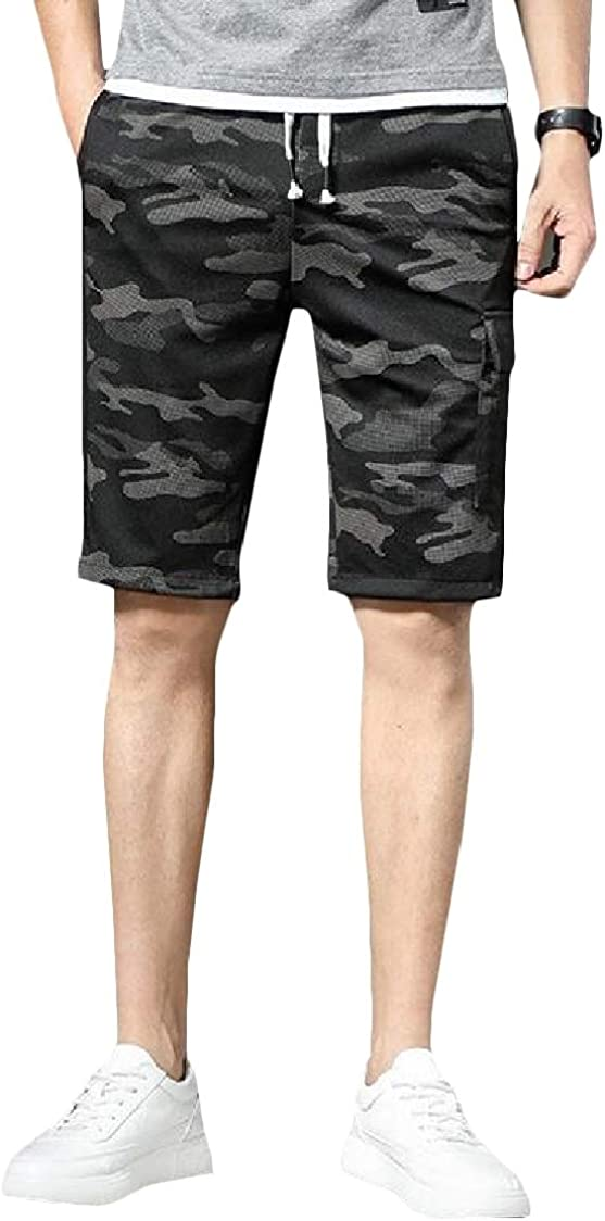 Pcutrone Mens Multi Pockets Sport Casual Camo Slim Fit Summer Shorts