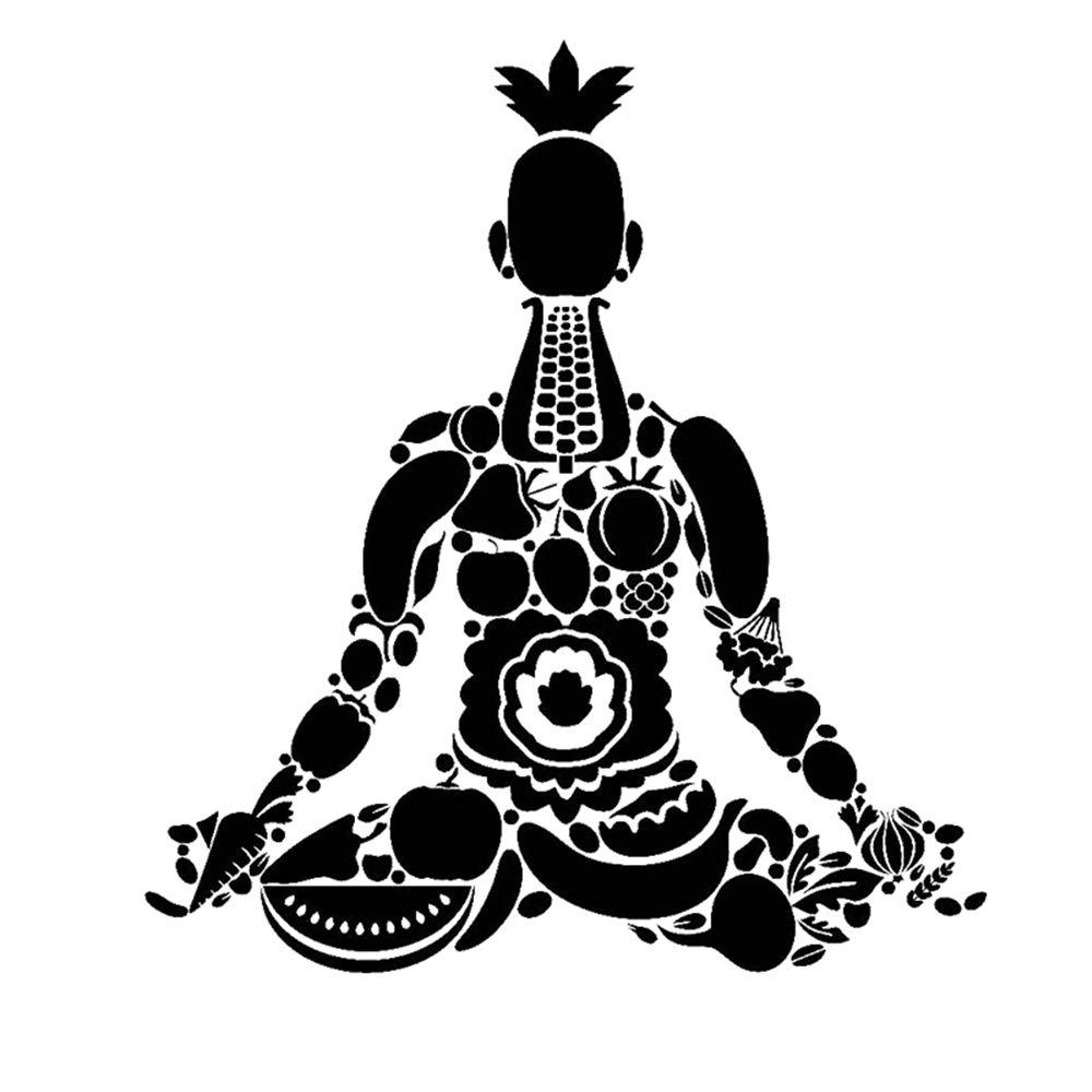 pegatinas de pared tortugas ninja Vegan Yoga Decal ...