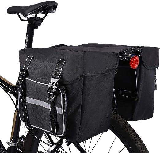 Bolsa para bastidor trasero bicicleta 28 l, paquete alforja para ...