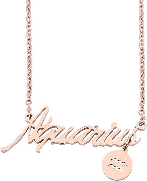 Amazoncom Wusuaned Zodiac Sign Necklace Astrology Necklace