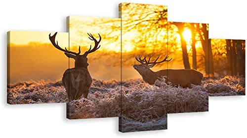 Urttiiyy Elks Deer Wall Art