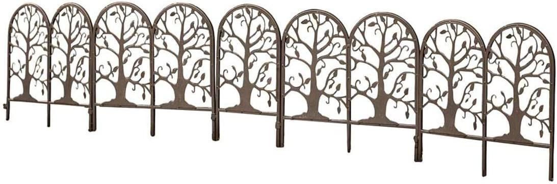 Plow & Hearth Metal Garden Edging with Tree of Life Design