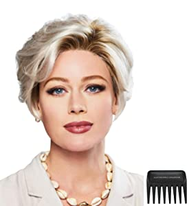 Bundle - 3 Items: Perfection Wig by Gabor, Christy's Wigs Q & A Booklet & Wide Tooth Comb - Color: SS1422