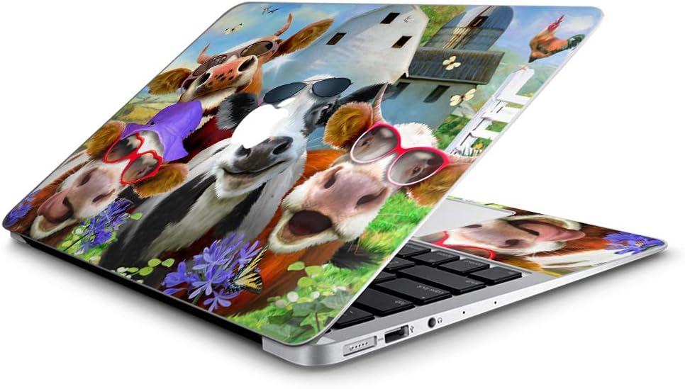 Udderly Cool - Custom Fits Apple MacBook Air 11 inch Laptop Notebook Skin Vinyl Sticker Cover Decal