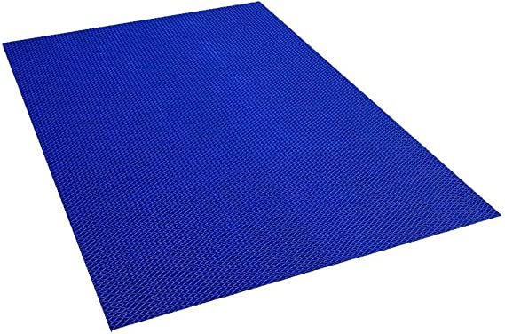 Spaghetti Mat by MattingExperts Drains Water VinLoop Vinyl Pool Shower Bathroom Comfortable Looped Mat 4x3, Black Locker Room