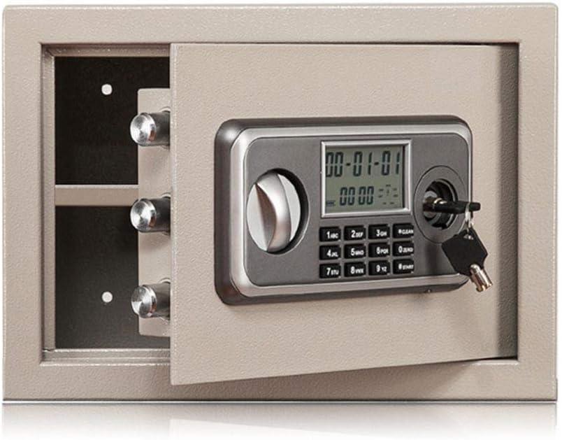 電子金庫 保護マネージュエリーパスポートは2緊急キーホームオフィス鉄骨デジタル電子セーフティボックスが含まれています ファイル収納 (Color : White, Size : 25x35x25)
