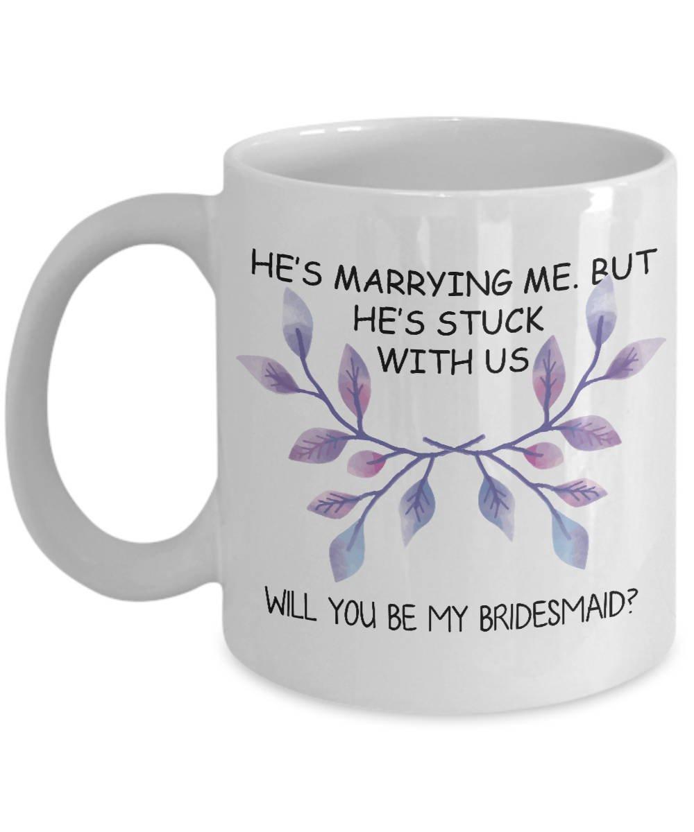 Will You Be My Bridesmaid Taza de café sorpresa cumpleaños ...